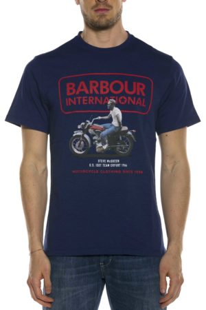 BARBOUR-T-SHIRT CON LOGO-BATEE0390MTS BLU