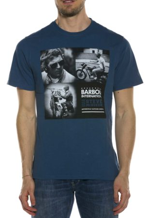 BARBOUR-T-SHIRT CON STAMPA-BATEE0394MTS BLU