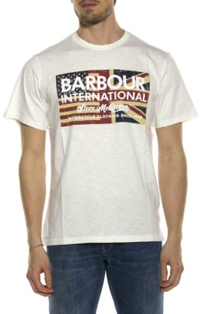 BARBOUR-T-SHIRT CON LOGO E BANDIERA-BATEE0396MTS BIA