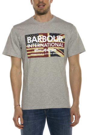 BARBOUR-T-SHIRT CON LOGO E BANDIERA-BATEE0396MTS GRI