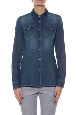 DONDUP-CAMICIA IN JEANS-DDC515DF0218 USE