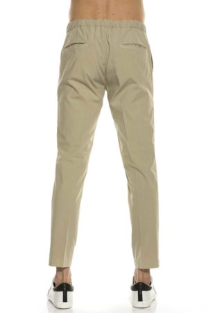 "DEVORE-PANTALONE ""LEISURE 1"" IN POPELINE-DVLEISURE1POP0 SAB"