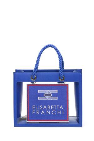ELISABETTA FRANCHI-BORSA MEDIA CON INSERTI IN PVC-EFBS30A01E2 BLE