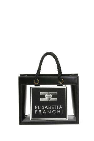 ELISABETTA FRANCHI-BORSA MEDIA CON INSERTI IN PVC-EFBS30A01E2 NER